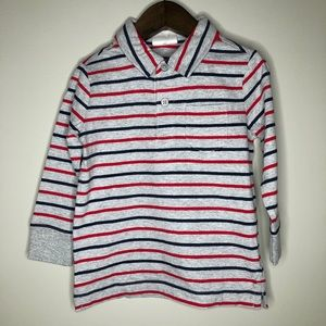NWT Hanna Andersson toddler boys stripe polo LS